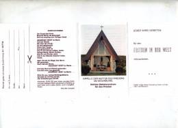 Feuillet Paix Sur Monde Chapelle Segenbühel - Christianisme
