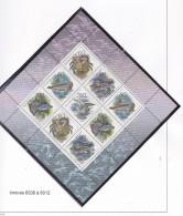 RUSSIE URSS 1993 FAUNE DES MERS FEUILLET TIMBRES 6008 A 6012MNH - 1992-.... Fédération