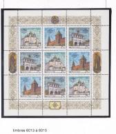 RUSSIE URSS 1993 LE KREMLIN FEUILLET TIMBRES 6013 A 6015 MNH - 1992-.... Federation