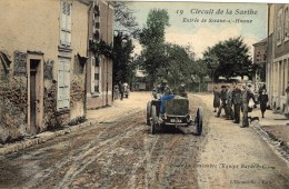Grand Prix De L´ACF 1906 - Circuit De La Sarthe -  Touloubre (Clément-Bayard) - Entrée De Sceaux-s-Huisne  - CPA - Le Mans