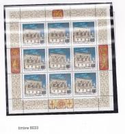 RUSSIE URSS 1993 KREMLIN 3 FEUILLETS TIMBRES 6033 A 6035 MNH 3 SCANS - 1992-.... Federation