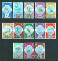 Timbres De Nouvelles  Hébrides  De 1977/78  N°508 A 520 Complet Neufs ** Cote 48€ - Légende Anglaise