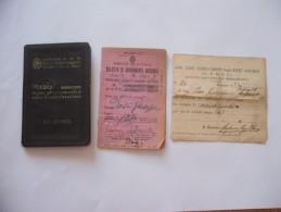TESSERA FERROVIE DELLO STATO ABBONAMENTO MILANO BERGAMO 1943 - Altri
