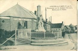 Avesnes Le Comte-le Monument Aux Morts-aux 80 Enfants D'avesnes-entreprise Delannoy Massy-chaux Ciment---cpa - Beuvry