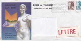 BANYULS -sur-MER: Flamme ,postée 26-3-87  Voir Verso - Marcofilie (Brieven)