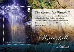 Montserrat-Waterfalls From Around The World S/s - Geologia
