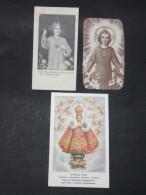 3 Images Pieuses Religieuses De L'ENFANT JÉSUS - Images Religieuses