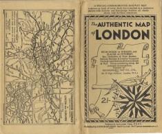18494. Antiguo Mapa LONDON And SUBURBES....aprox 1930-1940 - Mapas Geográficas