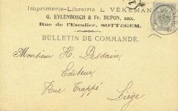 CP/PK Publicitaire ZOTTEGEM 1908 - G. EYLENBOSCH & Fr. DUPON - Drukkers & Boekhandelaars - Zottegem