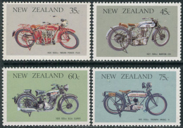 New Zealand 1986. Michel #954/57 MNH/Luxe. Motorcycles (Ts10) - Unused Stamps