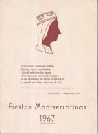 18499. Diptico Pubicidad MONTSERRAT (Barcelona) Fietas Montserratinas 1967. Sardanas - Publicidad