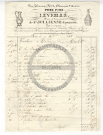 /! 3534 - Vieille Facture : Ets Leveillé - Chaussée D'Antin, Paris - 1838 - Porcelaines, Cristaux - France