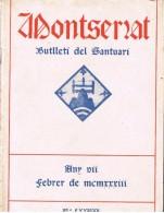 18500. Libro. Boletin Santuario MONTSERRAT (Barcelona) 1933, + 40 Paginas - Documentos Históricos