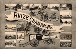 AVIZE CHAMPAGNE (51) Multivues - Belle Carte Postée - France