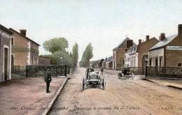 Grand Prix De L´ACF - 1906 - Circuit De La Sarthe -  Passage à Niveau De  St Calais  -   CPA - Le Mans