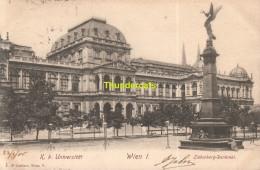 CPA K K UNIVERSITAT WIEN I LIEBENBERG DENKMAL - Vienna Center
