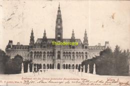 CPA RATHAUS MIT DEN STATUEN HISTORISCHER PERSONLICHKEITEN WIENS WIEN I - Vienna Center