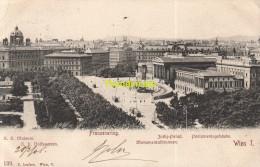 CPA FRANZENRING WIEN JUSTIZ PALAST MONUMENTALBRUNNEN PARLAMENTSGEBAUDE - Vienna Center