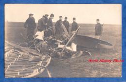 CPA Photo - ETAMPES - Accident D'avion à Identifier - Présence De Militaire - Photographie Ramemeu - Aviation - Etampes