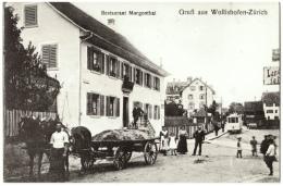 CPA Schweiz/Suisse: Gruss Aus Wollishofen-Zürich - Restaurant Morgenthal, 1908, 2 Scans - Gruss Aus.../ Gruesse Aus...