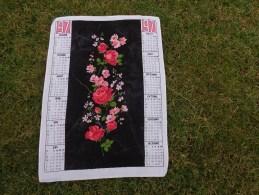 Torchon Calendrier 1971-fleurs Les Roses - Publicité