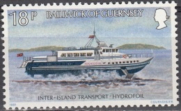 Guernsey 1981 Michel 234 Neuf ** Cote (2008) 0.70 Euro Bateau Hydrofoil - Guernesey