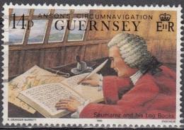 Guernsey 1990 Michel 492 O Cote (2008) 0.60 Euro Lieutenant Saumarez Philip - Guernsey