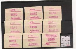 AUSTRALIE LOT DE VIGNETTES - Vignettes D'affranchissement (ATM/Frama)