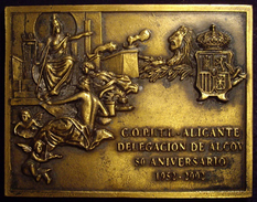 ESPAÑA. PLACA 50 ANIVERSARIO COLEGIO PERITOS INDUSTRIALES. ALCOY. 2.002. ESPAGNE. SPAIN - Professionals/Firms