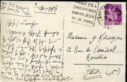 10509 France, Circuled Card With Special Postmark  Casino, Jeux, - Games