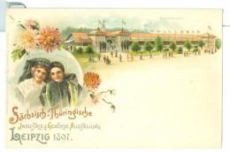 1897 Germany Sachsisch-Thuringische Industrie Austellung Leipzig Pc Vignettes, Gartenbauhalle, Unused - Exhibitions