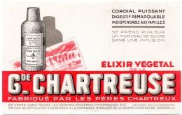 Buvard Elixir Végétal De La Gde. Chartreuse. Voiron, Isère. - Liqueur & Bière
