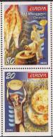 2005 Georgien Georgia    Mi. 482-3 D  **MNH   Booklet Set  Europa: Gastronomie - 2005