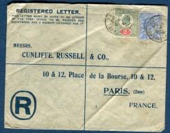 Grande-Bretagne - Enveloppe En Recommandée Pour La France En 1904  Voir 2 Scans Réf. 1321 - Briefe U. Dokumente