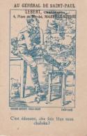 """Nogent Le Rotrou : """" Au Général De Saint Paul """" (sic) LEBERT, Chausseur, 4 Place Du Marché. . ( Devinette ) - Publicités"""