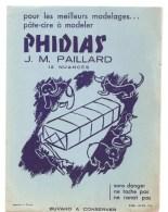 Buvard PHIDIAS Pour Les Meilleurs Modelages ... Pâte-cire à Modeler PHIDIAS J.M. PAILLARD 12 Nuances - Stationeries (flat Articles)