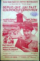 MISTINGUETT  PARTITION ILLUSTREE DEPUIS QUE J'AI FAIT COUPER MES CHEVEUX  1925 - Partituren