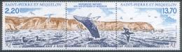 Saint Pierre And Miquelon, Whale And Birds, 1988, MNH VF  A Triptych - St.Pierre & Miquelon