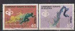 1358 Italia 1974 Campionati Europei Atletica Viaggiato Full Set Italy