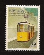 Portugal 1989 N° 1765 Iso ** Transport, Train, Locomotive, Chemin De Fer, Tramway, Lisbonne, Funiculaire, Electricité - 1910-... República