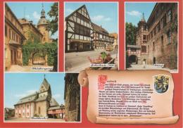Laubach - Mehrbildkarte 4  Mit Chronik - Laubach