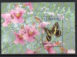 2007 Lesotho Butterflies Complete Set Of 4 Sheets   MNH - Farfalle