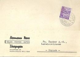 "Motiv Karte  ""Narr, Velos Motos Autos, Thayngen""              1935 - Covers & Documents"