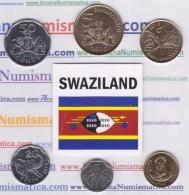 SWAZILAND  Set / Tira  6 Monedas/Coins  2.015  2015     SC/UNCirculated     T-DL-11.751 - Swaziland