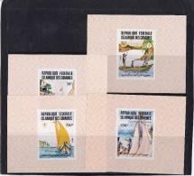 Comoro Islands (Sc# 641-44) MNH  (4 Deluxe Souvenir Sheets Of 1) 75th Anniversary Of Boy Scouts (1982) - Comores (1975-...)