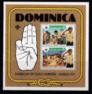 Dominicia (Sc# 540 ) MNH  (Souvenir Sheet Of 2) Caribbean Boy Scout Jamboree  (1977) - Dominica (1978-...)