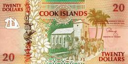 COOK ISLANDS 20 DOLLARS ND (1992) P-9 UNC [CK109a] - Cook Islands
