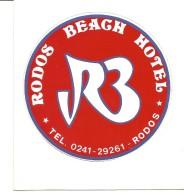 F-RODOS BEACH HOTEL-RODOS-ADESIVO D'ALBERGO - Etiquettes D'hotels