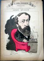 ABSINTHE  ALCOOL  GRAVURE AVEC VERRE ET CUILLER  PELLE A D'ABSINTHE  HENRI BRISSON DEPUTE A SON BUREAU  1880 - Autres