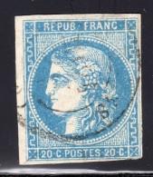 Emission De Bordeaux  N° 46B Avec Oblitération Cachet à Date  TB - 1870 Bordeaux Printing